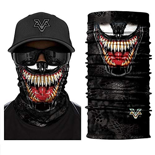 Bandana 3D Devil Venom Spider Masks Scarfs Movie Scarf Mask Tube Neck Full Face Lower Half Shield Sun Air Soft Hiking Paintball Headwear No.218]()