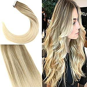 Giveaway: Youngsee 16inch Ombre Remy Tape in Hair Extensions Human...