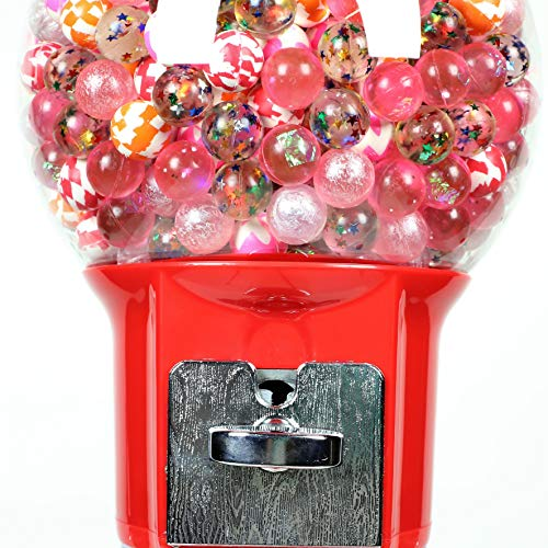 Spiral Gumball Machine Lil Wizard 27 inch - set up for $0.25 - Gumballs 1 inch - Toys in Round Capsules - 1'' Bouncy Balls 25 mm - Red Vending Gum Machine - Great Gift for Kids by Global Gumball (Image #5)