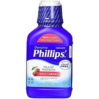 Phillips Wild Cherry Milk of Magnesia Liquid, 26 Fl Oz (Pack of 2