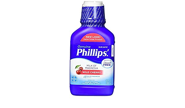 Amazon.com: Phillips Wild Cherry Milk of Magnesia Liquid, 26 Fl Oz (Pack of 4) Fx&kH: Beauty