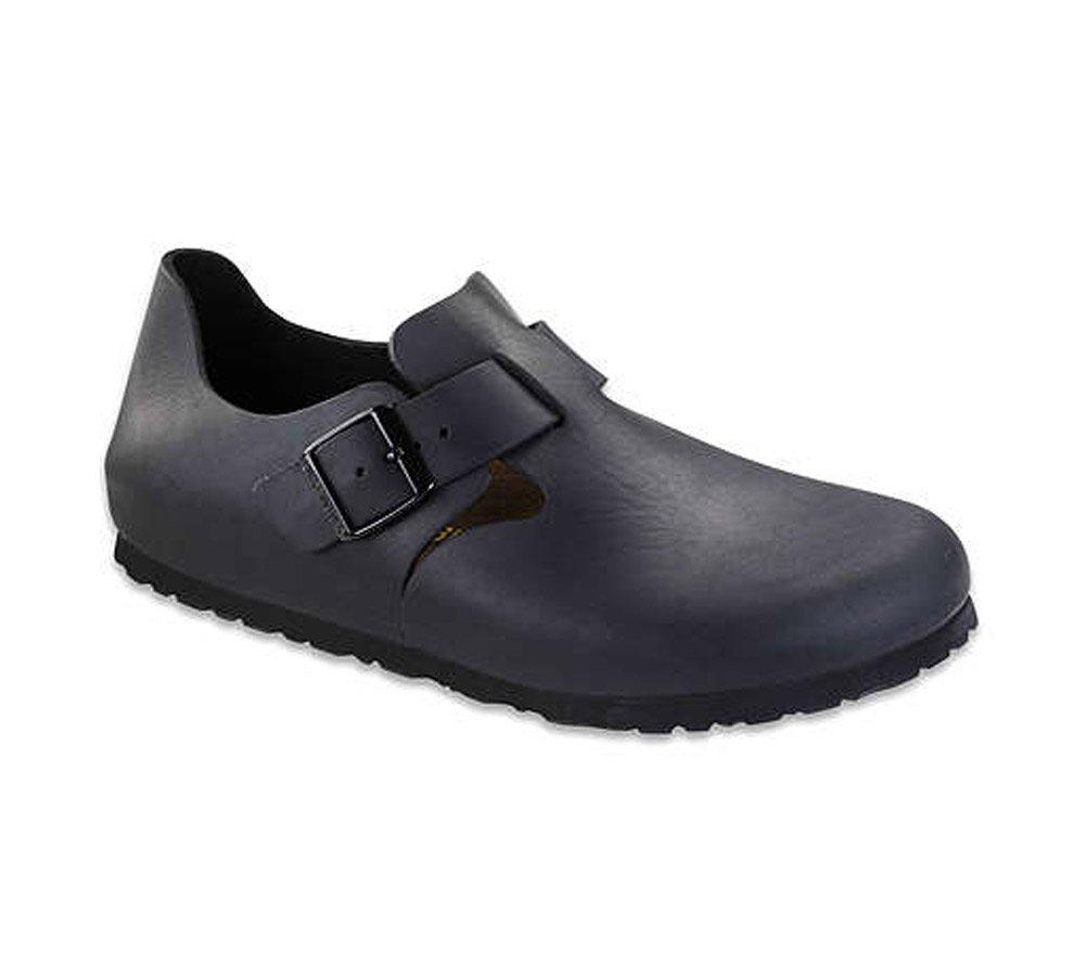 Birkenstock Unisex London Clog Adjustable Strap Slip On Loafer Shoe, Black Oiled Leather, 41