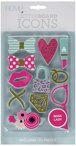 American Crafts 11 Piece Boss Lady Icon Pack Die Cuts with a View Letterboards