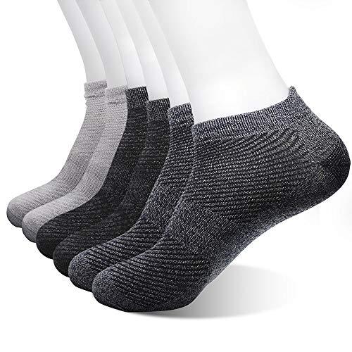 SaraCloth Socks Men Pack Sports Buffer Deodorant and Slip, Breathable Sweat, Men Socks Low Cut Cotton No Show(6 pack)