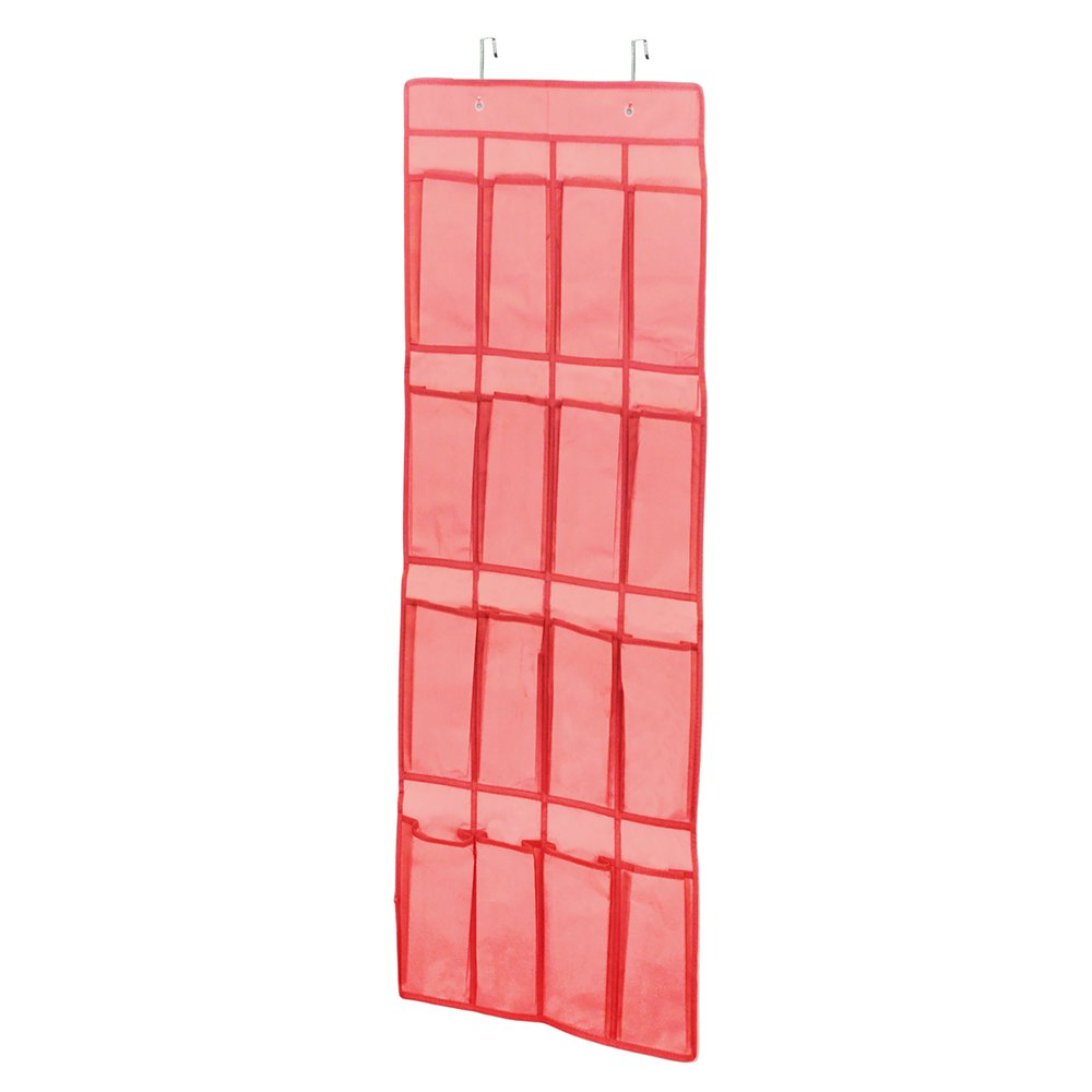 Campus Linens Over the Door Shoe Organizer for College Dorm Storage (Color Coral) by Campus Linens (Image #1)