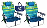 Tommy Bahama Backpack Beach Chairs with One Medium Tote Bag - Pack of