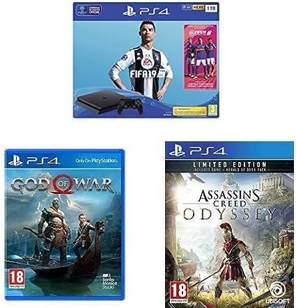 PlayStation 4 (PS4) - Consola 1 TB + FIFA 19 - Edición Estándar + ...