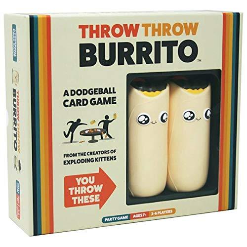[해외]Throw Throw Throw Burrito Dodgeball Board Game Original Edition Party Game / Throw Throw Burrito Dodgeball Board Game Original Edition Party Game
