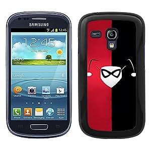 Funda carcasa para Samsung Galaxy S3 Mini diseño cara Joker superhéroe borde negro