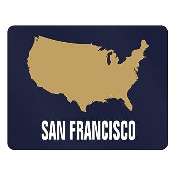 Amazon.com: Teeburon San Francisco USA Map Horizontal Sign: Home ...