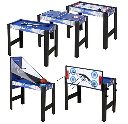 HLC 5in1 マルチテーブルゲーム 91.5×48×76cm テーブルテニス ホッケー ビリヤード バスケットボール アーチェリーゲーム