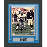 #6: Framed Autographed/Signed Barry Sanders Detroit Lions 8x10 Football Photo JSA COA