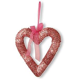 National Tree 11 Inch Pink Beaded Heart Shaped Valentine Wreath (RAV-HY12008P-1) 85