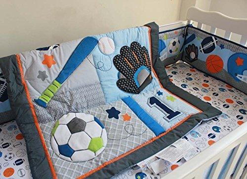F.C.L 6 Pieces Baby Boy Sport Crib Bedding Set