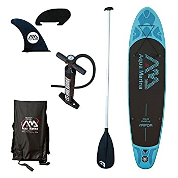 Image of Boating Aqua Marina BT-88882P Vapor Inflatable Stand-up Paddle Board with Sports AC-80322 iSUP Paddle