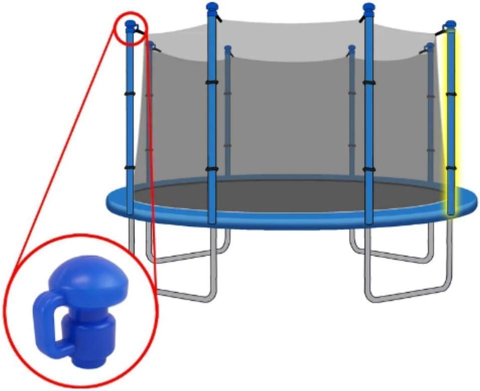 "4 Trampoline Pole Cap Enclosure Net Hook Fits for 1.5/"" Diameter Pole"