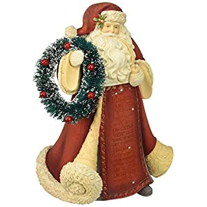 Heart of Christmas HRTCH Santa with Wreath Figurine 74