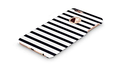 half off d77cf 18a0f Cover Affair Stripes Printed Designer Slim Light Weight Round Logo Back  Cover Case Compatible with Apple iPhone 6S (Black & White) (G3-D174)