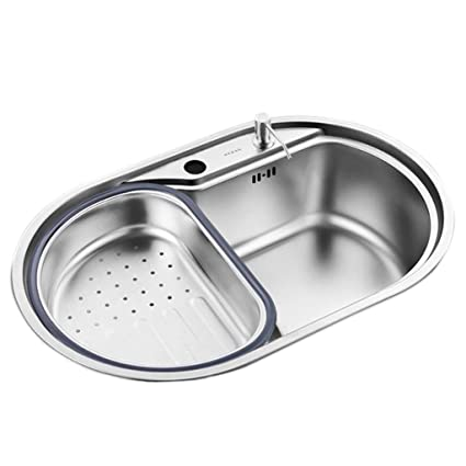 Amazon.com: Kitchen Sinks Bar Sinks Round Kitchen Tableware ...