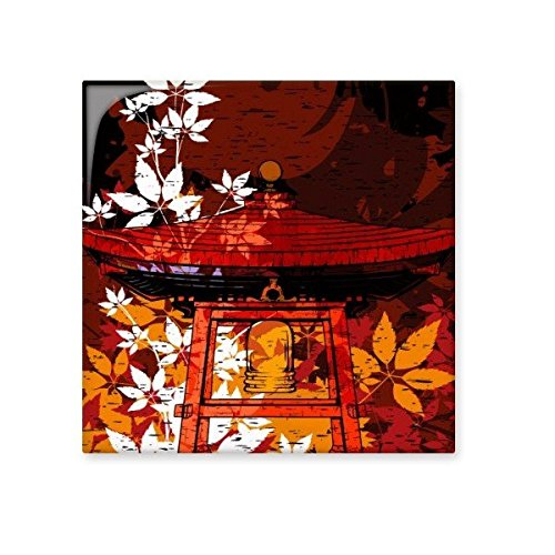 Japan Culture Japanese Style Leaves Pavilion Hand-decorated Illustration Pattern Ceramic Bisque Tiles for Decorating Bathroom Decor Kitchen Ceramic Tiles Wall Tiles 60%OFF