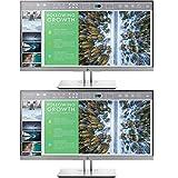 HP EliteDisplay 23.8-Inch Screen LED-Lit 2-Pack Monitor Silver (1FH47A8#ABA)