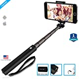 ZAAP NUSTAR4 Extendable Premium-ALUMINIUM Monopod Selfie Stick (Battery-Free) with In-built Remote Shutter for iPhone, Android, Other Smartphones.