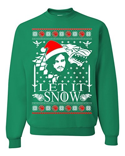 Let IT Snow Jon Snow Ugly Christmas Unisex Sweatshirt