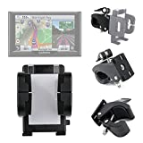 DURAGADGET Exclusive Smartphone Holder with Universal Flex Clamp (Bike Handlebars / Golf Buggies) for the NEW Garmin nuvi 55LM, 57LM, 57 LMT, Garmin nuvi 58 LMT, nuvi 67 LMT, nuvi 68 LMT, Garmin dezlCam LMT-D, nuviCam LMT-D & the Camper 660 LMT-D