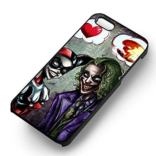Harley Quinn Joker Lovey Dovey pour Coque Iphone 6 et Coque Iphone 6s Case (Noir Boîtier en plastique dur) O7C3IU
