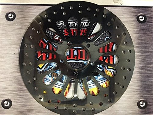 DNA 11.5'' Black Super Spoke Rear Brake Rotor For Harley by Scooters Performance
