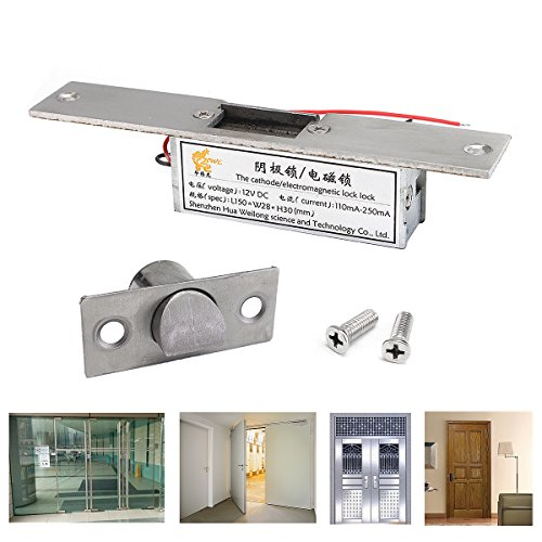 Easyflower Add Much Fun Electric Lock 12V Electric Strike Lock Fail Safe NC Cathode for Access Control Wood Metal Door by Easyflower (Image #5)
