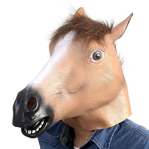 Katoot@ Hot Sale! Creepy Horse Mask Head Halloween Costume Theater Prop Novelty Latex Rubber Animal (Creepy Mask For Sale)