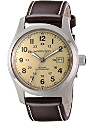 Hamilton Mens H70555523 Khaki Field Stainless Steel Watch with Brown Leather Band