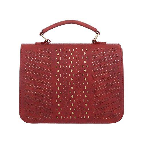 para al Design Ital Rojo hombro de Bolso mujer Sintético z6nqBY