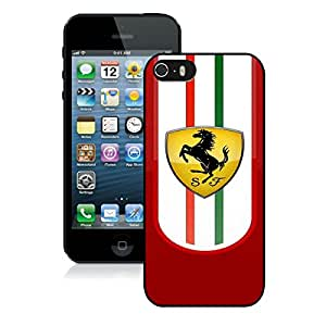 iPhone 5 5S Case ,Unique And Fashionable Designed Case With Ferrari logo 2 Black For iPhone 5 5S Phone Case