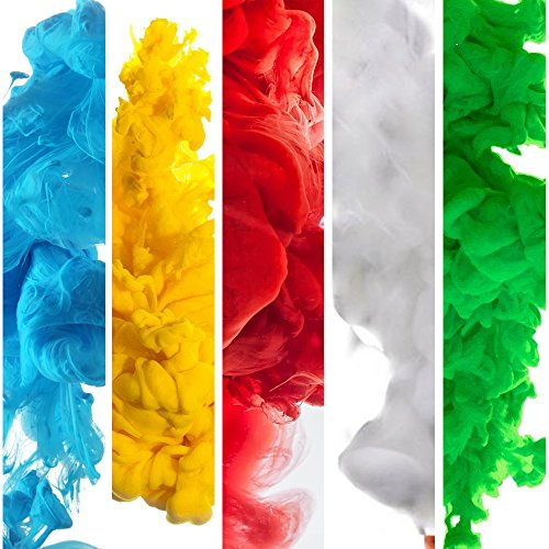 Color Smoke Effect Photography Props for Photography Background, Parties, Sports Rainbow 5 Colors (Red, Blue, Green, Orange, - Flare Smoke