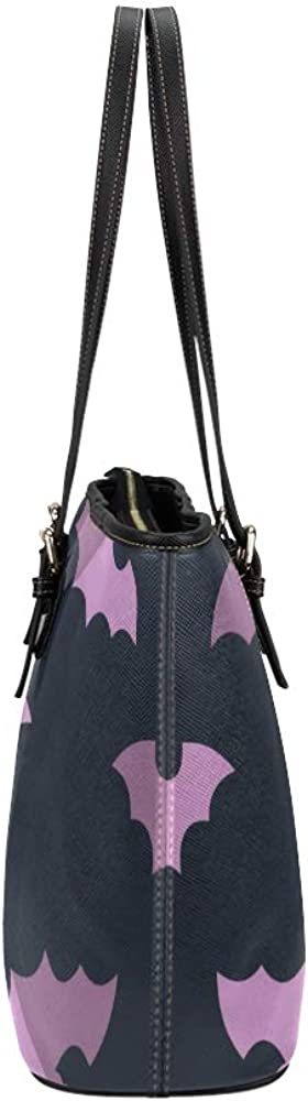 The Shoulder Bag Wild Nature Night Insect Animal Bat Leather Hand Totes Bag Causal Handbags Zipped Shoulder Organizer For Lady Girls Womens Outdoor Tote