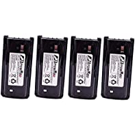 4 Pack Maxtop AKCL0045-1700-D KNB-45L KNB-45 Li-ion Battery for Kenwood TK-2200L/3200L TK-2207 TK-2202E TK-2206