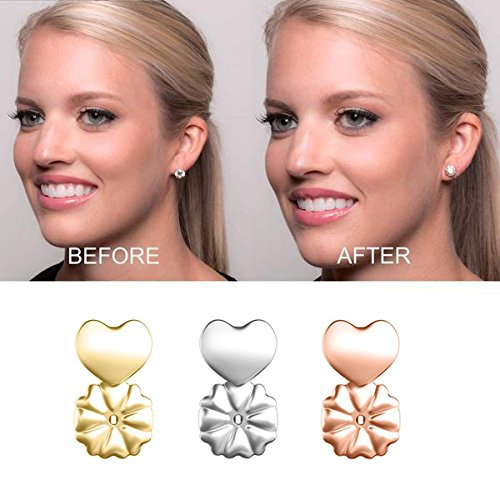 3 Pairs of Adjustable Earring Lifts Earring Lifters