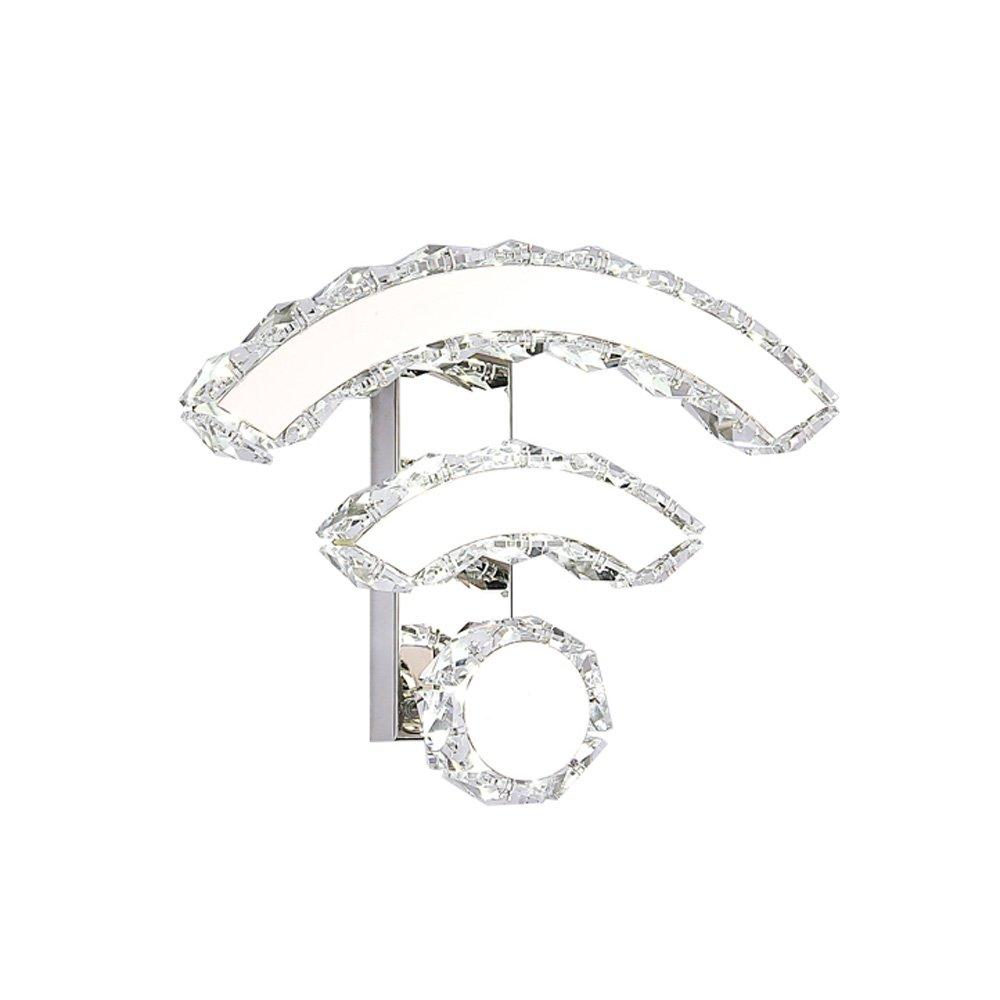 LED Kristall Wandleuchte Moderne Einfache Kreative WiFi Licht Schlafzimmer Wohnzimmer Korridor Gang Beleuchtung (Farbe   Weißes Licht)