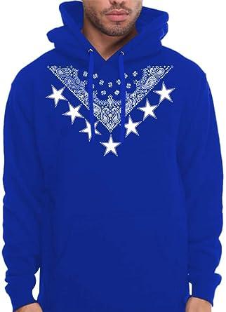 CaliDesign Men's Royal Blue Bandana Crip Clothing Hoodie