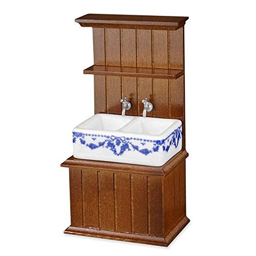 Dollhouse Miniature Small Empty Sink Cabinet by Reutter Porcelain (Miniature Cabinet Small)
