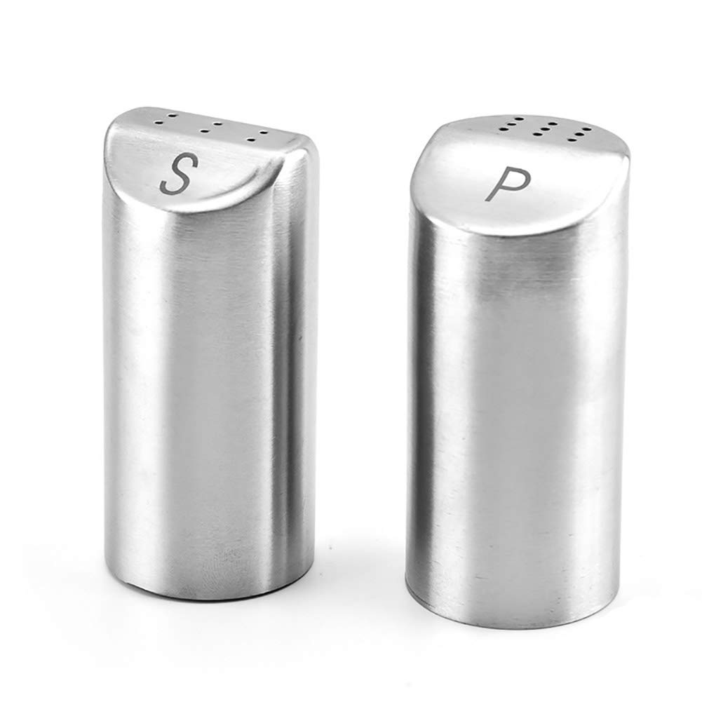 GGMC Sugar Container, Stainless Steel Powder Shaker Perfect Tool for Shaking Salt Pepper Powdered Sugar for Kitchen Cooking (2 Pcs) by GGMC