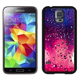 Fashionable Custom Designed Samsung Galaxy S5 I9600 G900a G900v G900p G900t G900w Phone Case With Rain Pink Bokeh_Black Phone Case