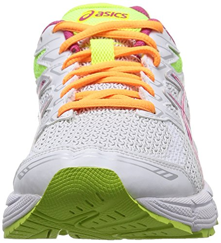 ASICS Gel-Phoenix 6 - Zapatillas de deporte para mujer Blanco (White / Hot Pink / Flash Yellow 120)