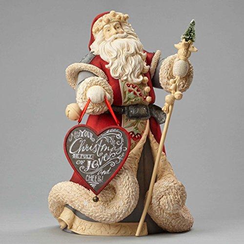 "Enesco Department 56 Heart of Christmas ""Deluxe Santa Masterpiece"" Stone Resin Figurine, 14.76"""