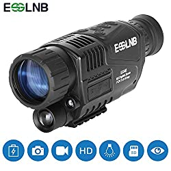 ESSLNB Night Vision Monocular 5X40 Night Vision Infrared IR Camera HD Digital Vision Scope Recording Image and Video Playback Function 8GB TF Card 656ft in Full Darkness for Hunting Security Surveilla