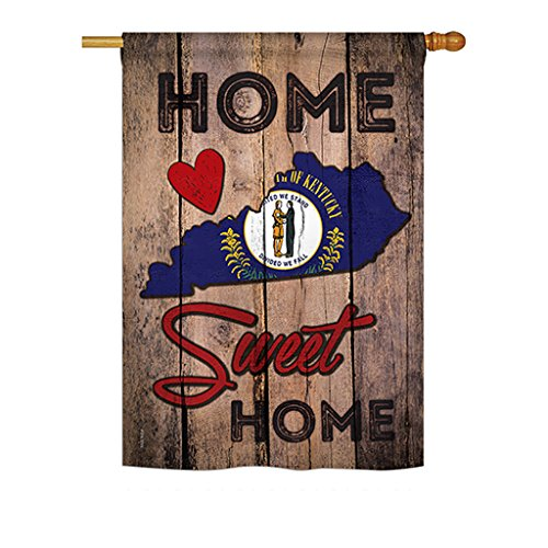 Ornament Collection H191139-P3 State Kentucky Home Sweet Americana States Impressions Decorative Vertical 28