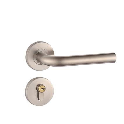 OUNONA Cerraduras de puerta de Acero inoxidable Alta Seguridad Anti golpe (Plata)