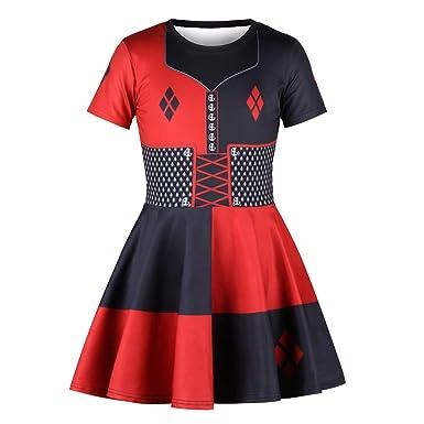 Vestido de niña Cuello Redondo de Manga Corta Estampado de Manga ...